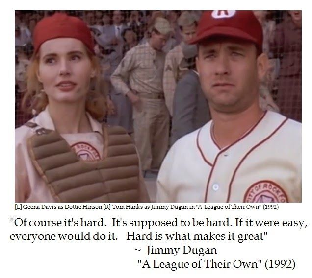 Famous Tom Hanks Movie Quotes: Jimmy Dugan On Adversity
