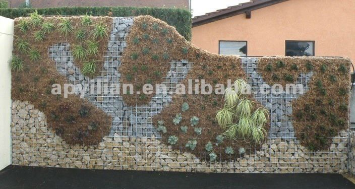 decorative gabion wall design for gardening - Gabion Walls Design