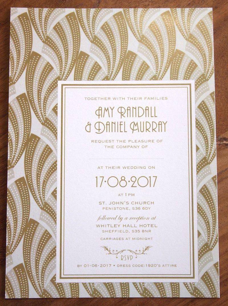 Art Deco inspired wedding stationery. Art Deco Wedding Invitation ...