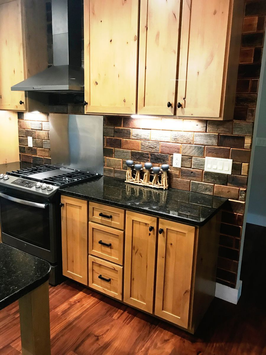Kitchen Cabinet Remodeling Reclaimed Barn Wood Bricks Kitchens In 2019 Kitchen Remodel