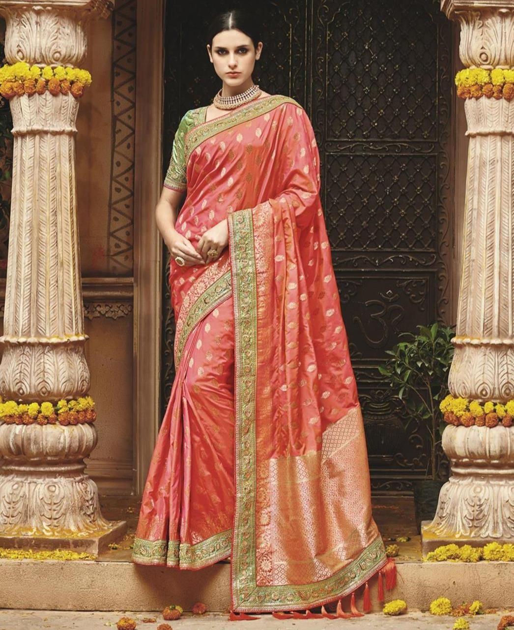 b6879e90f6 Pin by Jyoti yadav on Silk sarees | Saree wedding, Silk sarees, Saree