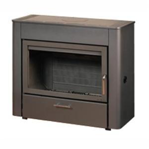 deville po le bois b tyle habillage acier gris corps de chauffe doubles. Black Bedroom Furniture Sets. Home Design Ideas