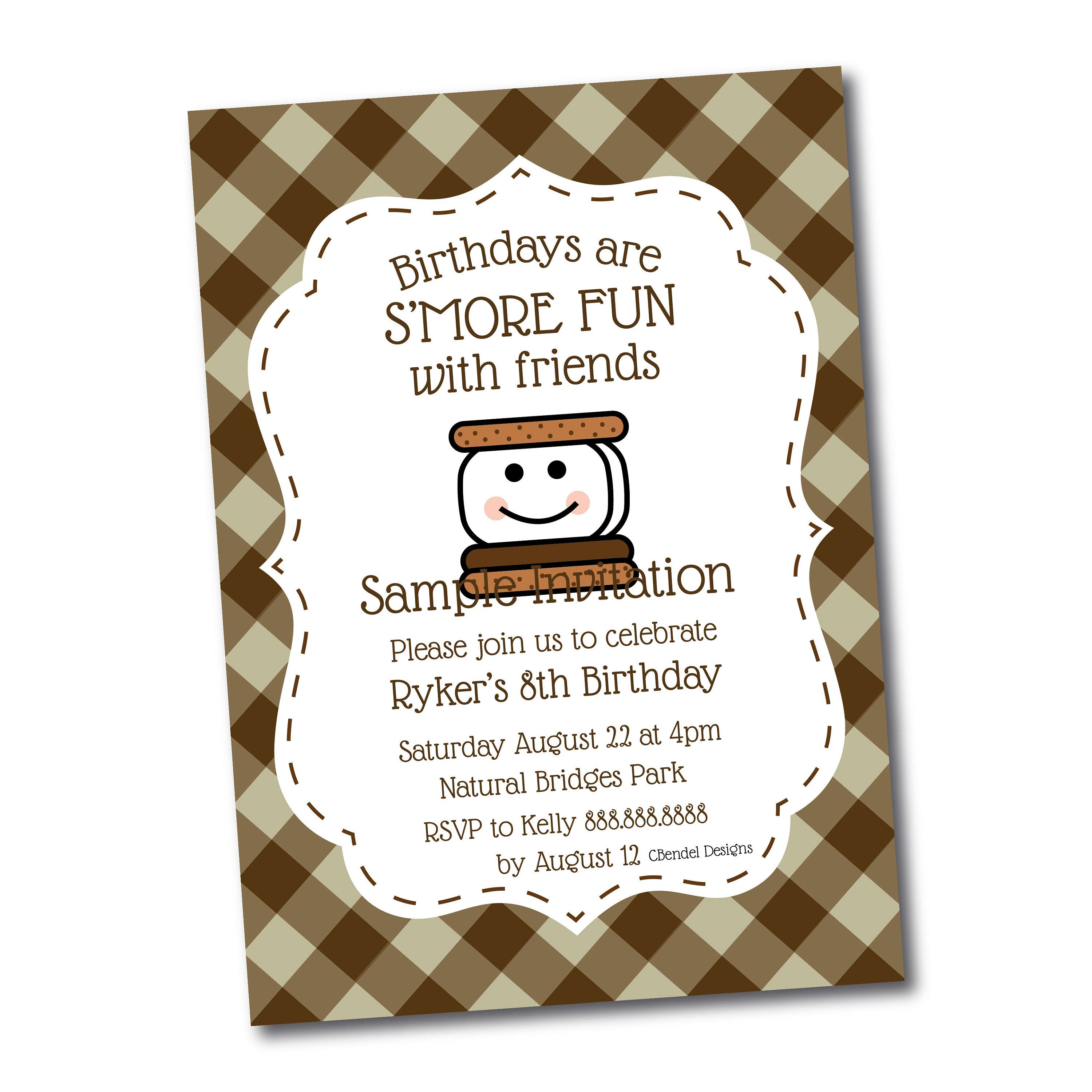 Smores Party Invitations | www.topsimages.com