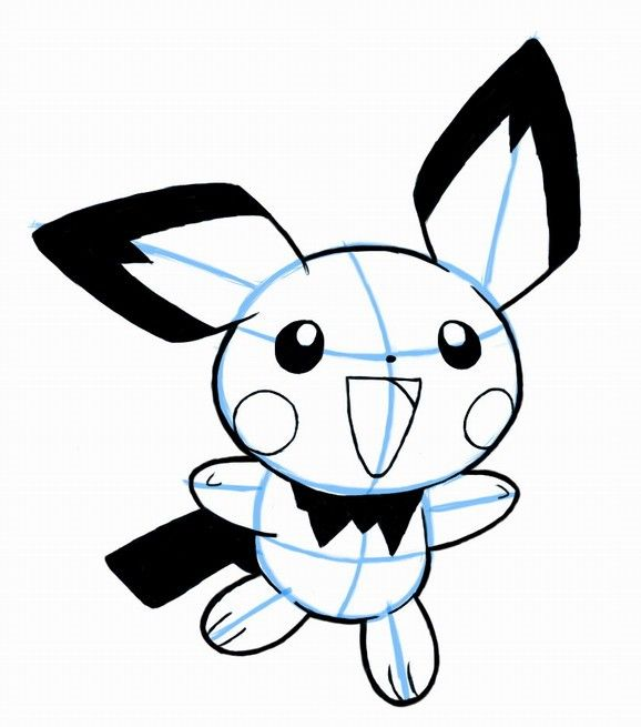How To Draw Pichu Pokemon Step By Step How To Draw Manga 3d Cool Easy Drawings Easy Drawings Cool Drawings