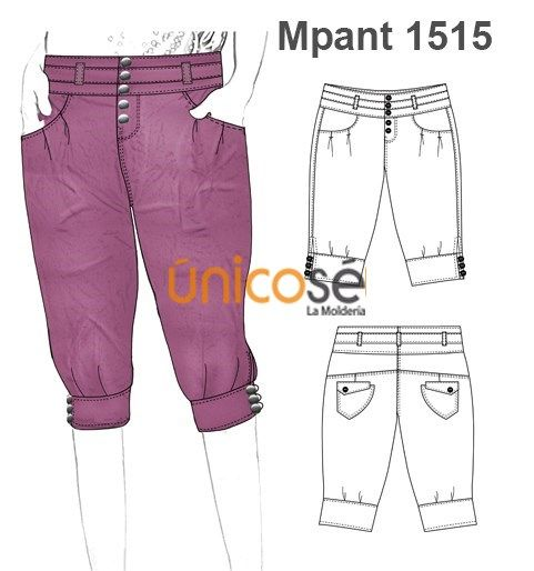 Moldes Unicose Pants Design Fashion Design Sketches Fashion