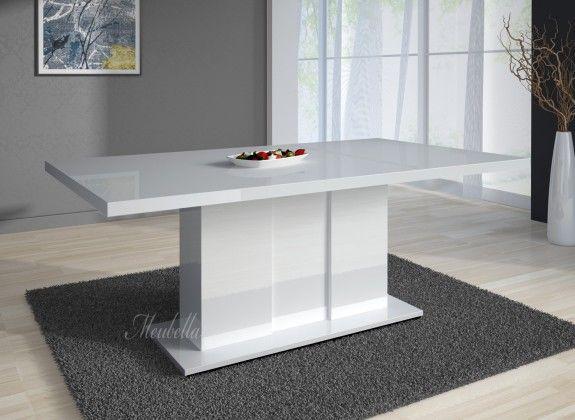 Tafel 6 Personen : Eetkamertafel grant 160 hoogglans wit escritorios pinterest
