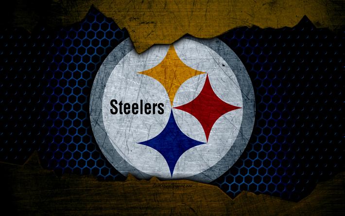 Download Wallpapers Pittsburgh Steelers 4k Logo Nfl American Football Afc Usa Grunge Metal Texture North Division Pittsburgh Steelers Textura De Metal Pittsburgh
