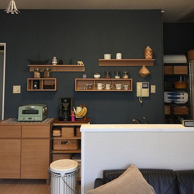 キッチンを手軽にイメージチェンジ 壁に付けられる家具 インテリア 模様替え ホームデコレーション