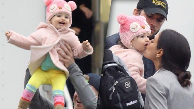Awwdorable! Ashton Kutcher Brings Baby Wyatt To See Mila Kunis At Work - See The Cute Photos!