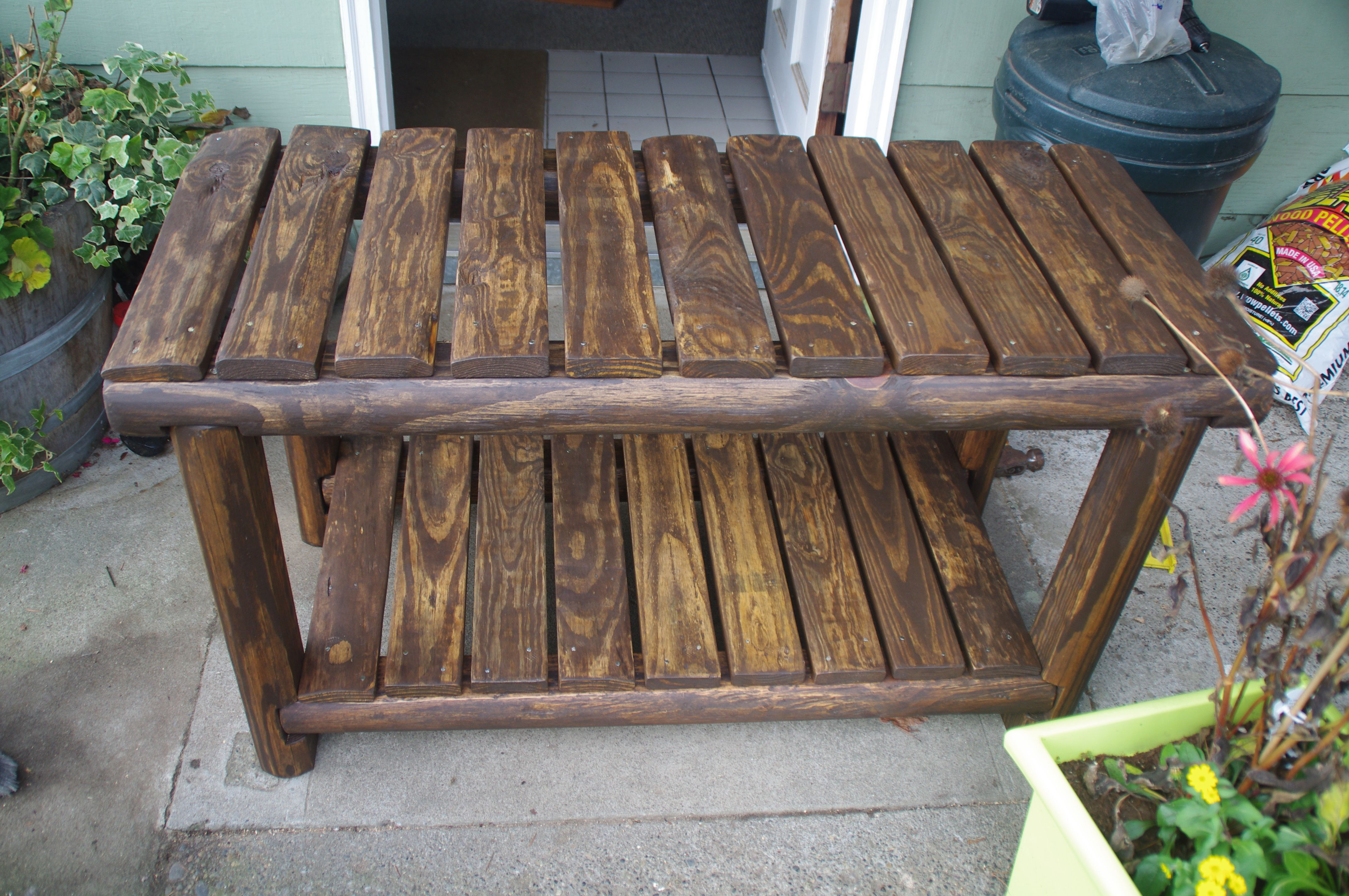 Rustic Tv Stand Stained And Wax Ready To Use