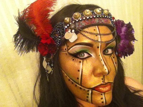 alice steampunk robot face makeup oatakon pinterest