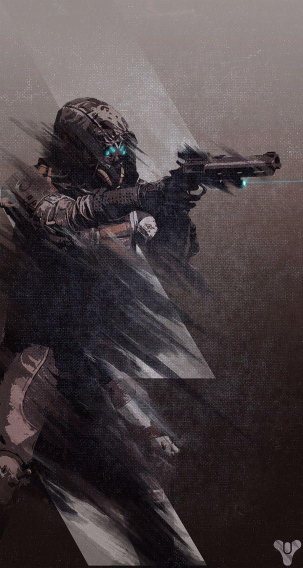 Destiny retro hunter poster/iphone wallpaper Destiny