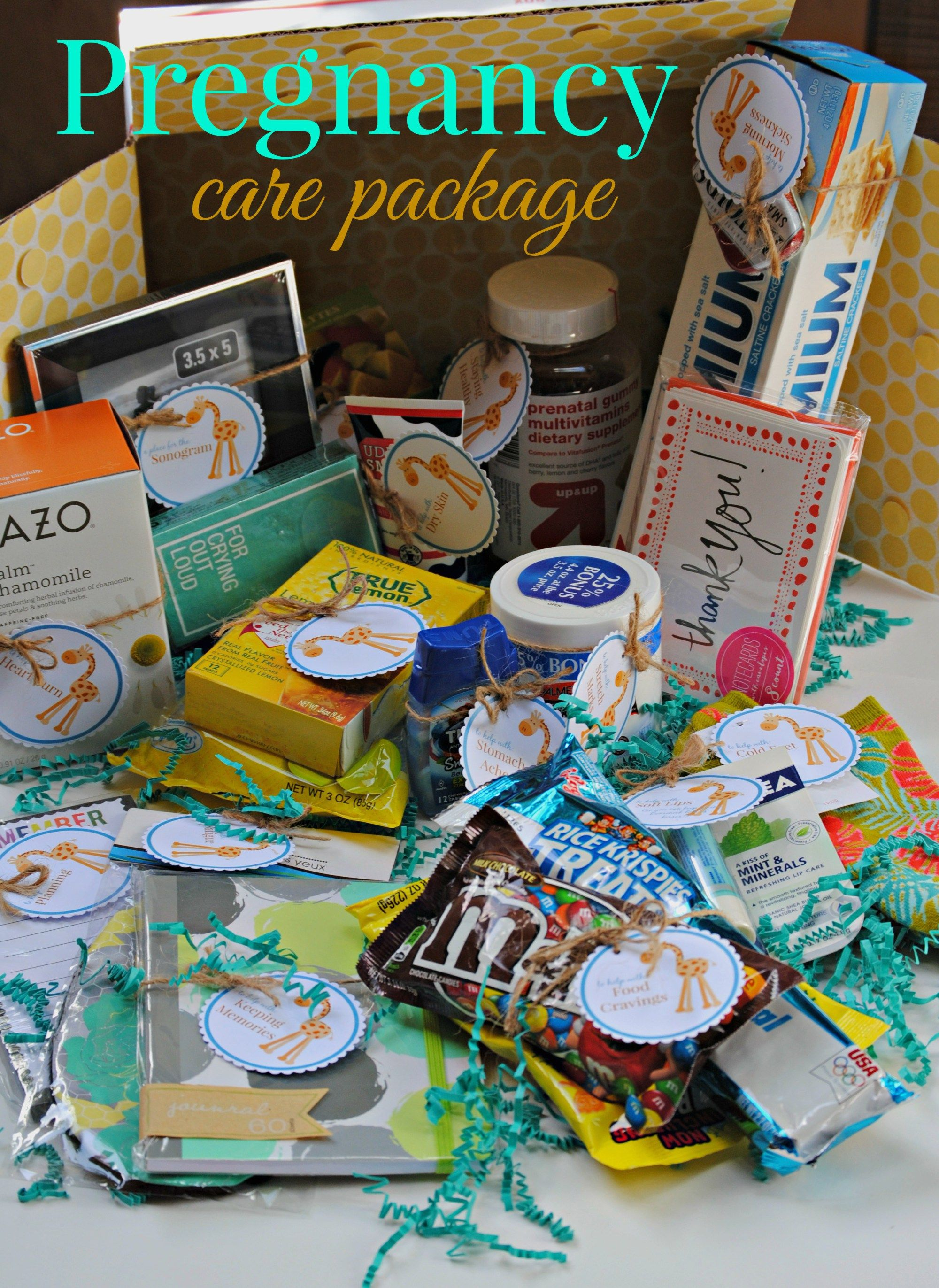 Filler ideas for a pregnancy care package pregnancy gifts