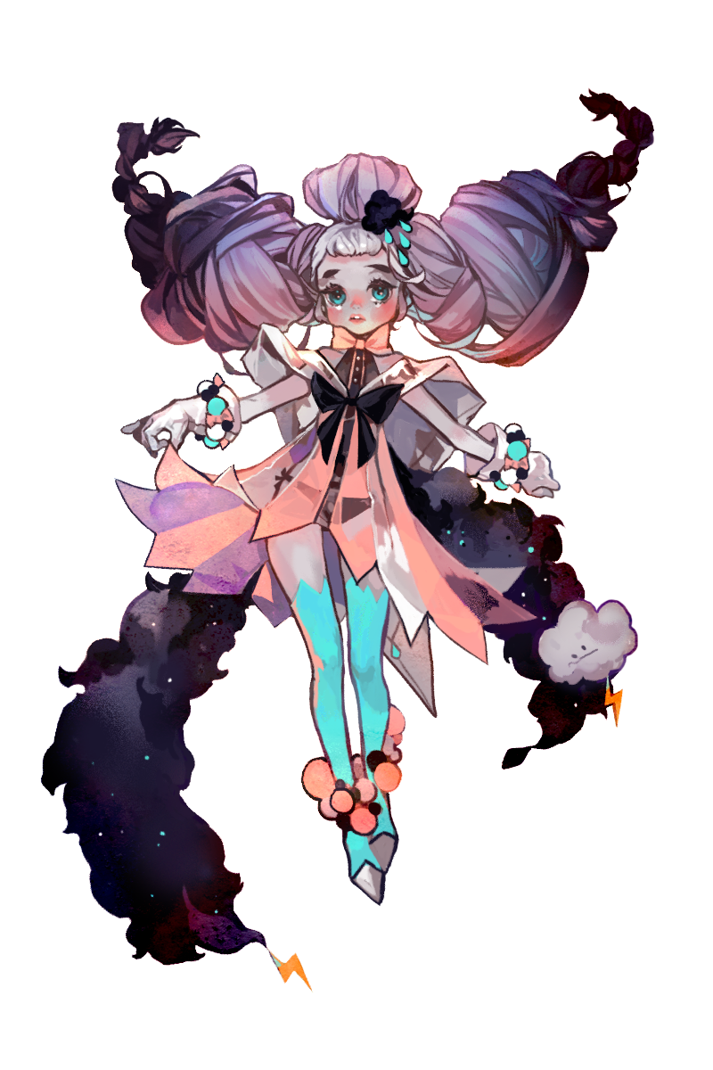 Magic girl of Dark clouds Character art, Character