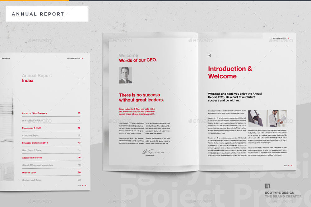 Annual Report by egotype | GraphicRiver #annualreports