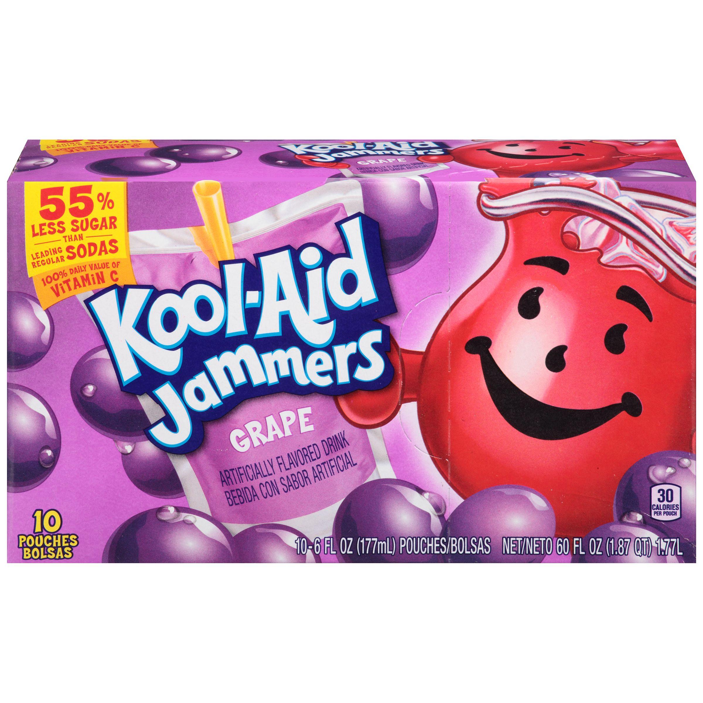 Kool Aid Jammers Grape Juice Drink Kool Aid Big Snacks Grape Juice Drinks