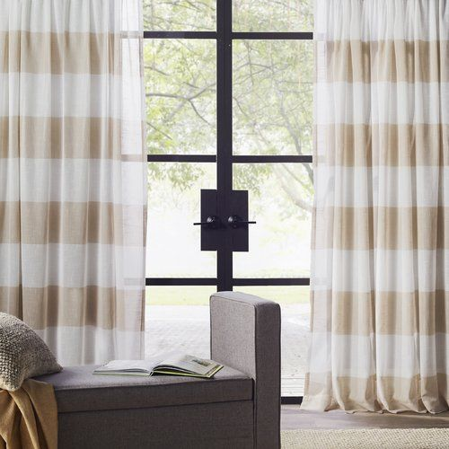 Amazing Found It At Joss U0026 Main   Skyline Stripe Linen Rod Pocket Curtain Panel