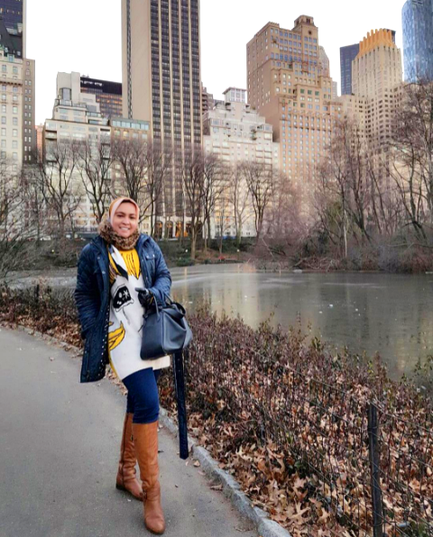 8bacf630f1a5 There s no place like  NewYork in December. We love how Astrid styled the  Joan boot for a winter walk in  Central Park!
