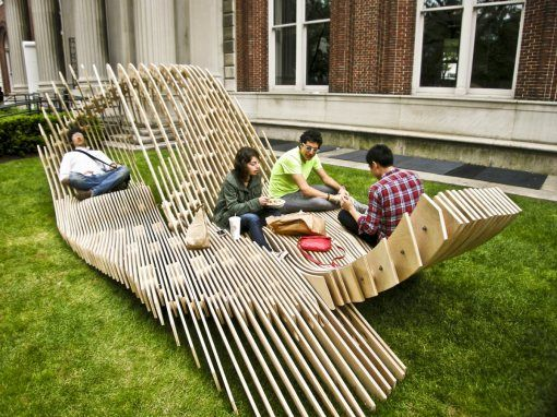 Miraculous Interesting Outdoor Bench Art Installation Not Sure But It Ocoug Best Dining Table And Chair Ideas Images Ocougorg