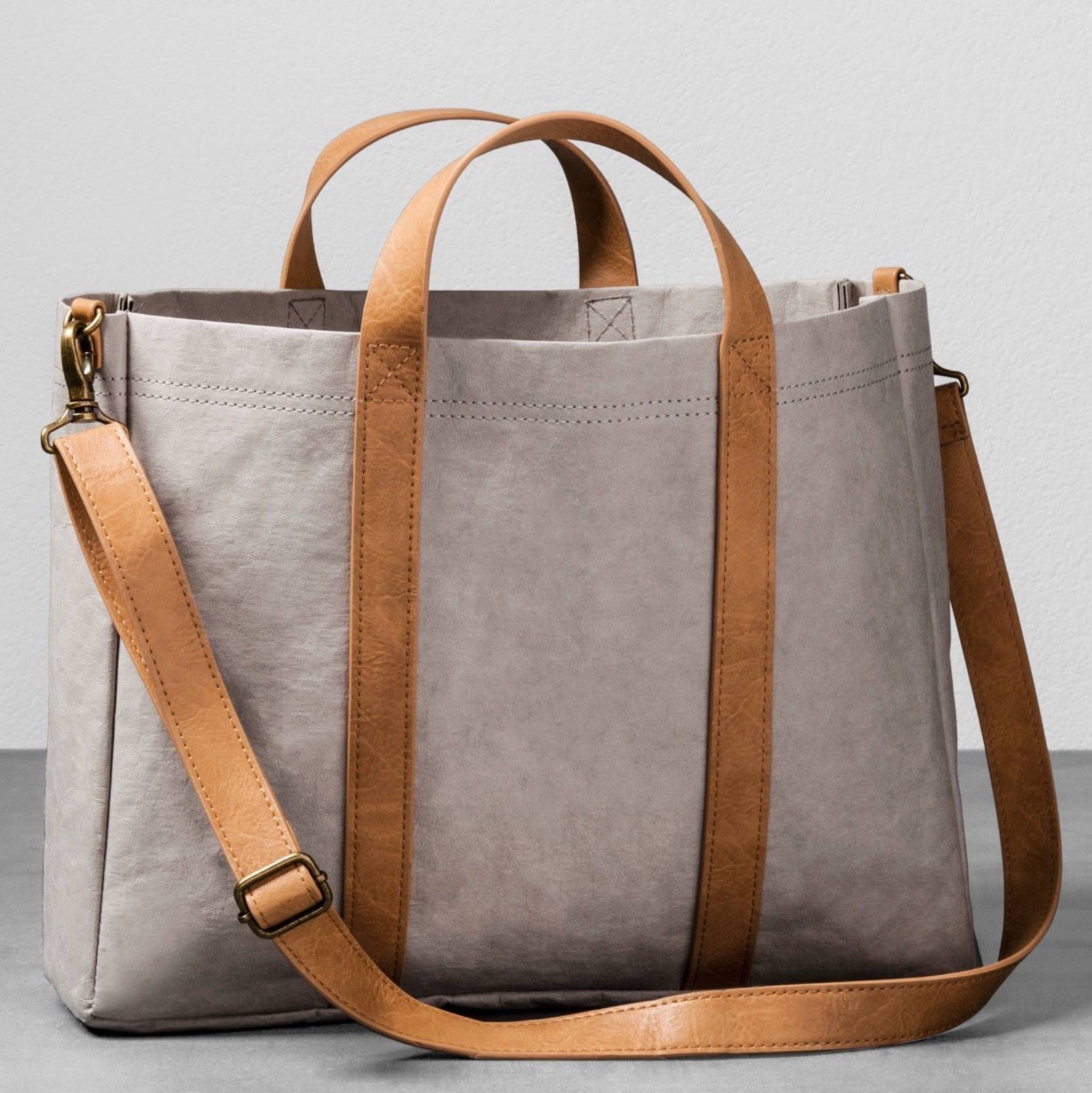 9d51f522605f Hearth   Hand with Magnolia Joanna Gaines Gray Paper Canvas Tote Bag Purse  NWT