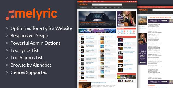 Melyric Song Lyrics Wordpress Theme - https://themesparadise.com ...