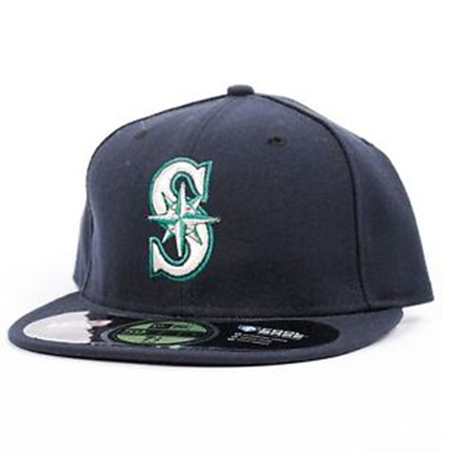 053f7228b97 Seattle Mariners New Era 59fifty Cool Base Fitted Hat Blue