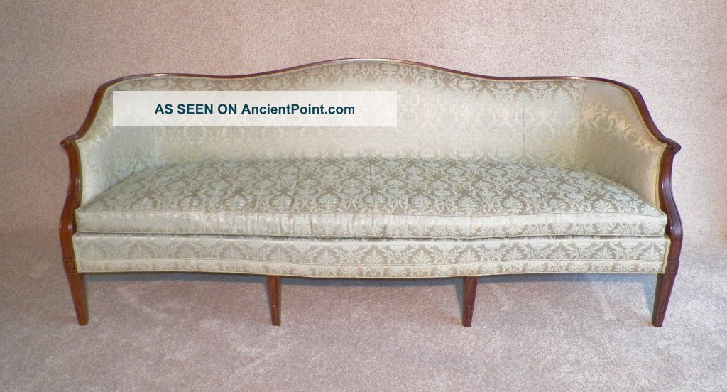 Mid Century, Hickory Chair Cabriole Sofa, High Quality