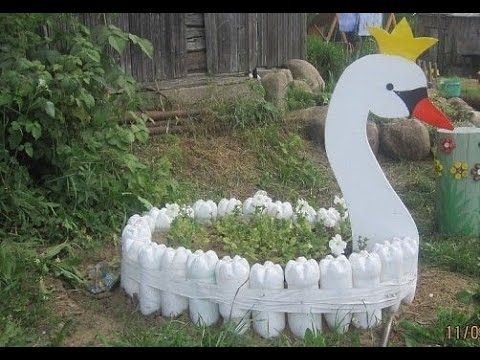 Creative garden craft decoration from recycled waste for Decoration from waste things