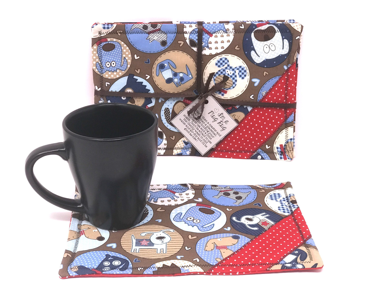 Coffee coffee mug holder coffee coasters mug rug