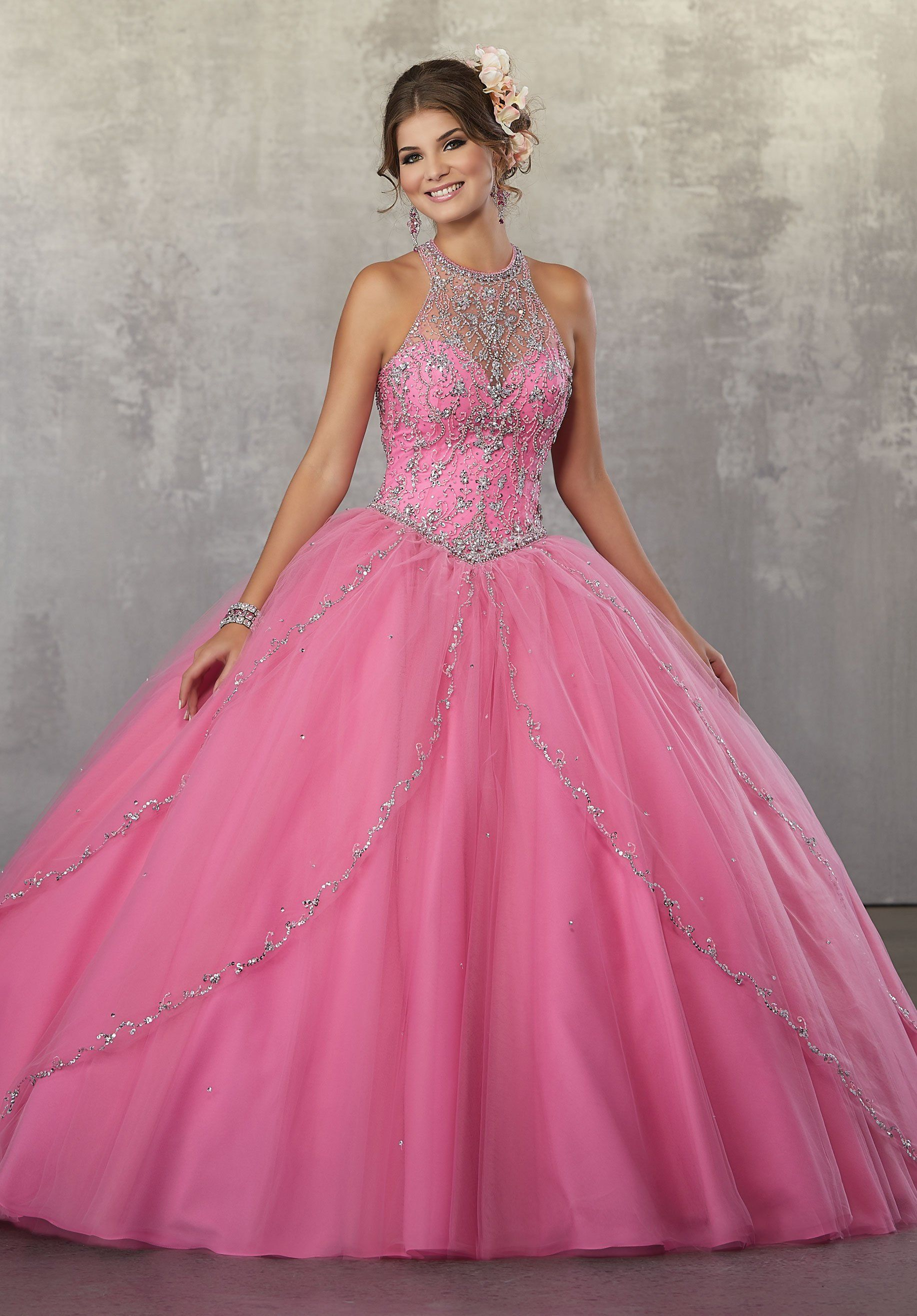 Illusion A-Line Quinceanera Dress by Mori Lee Vizcaya 89170 | Quince ...