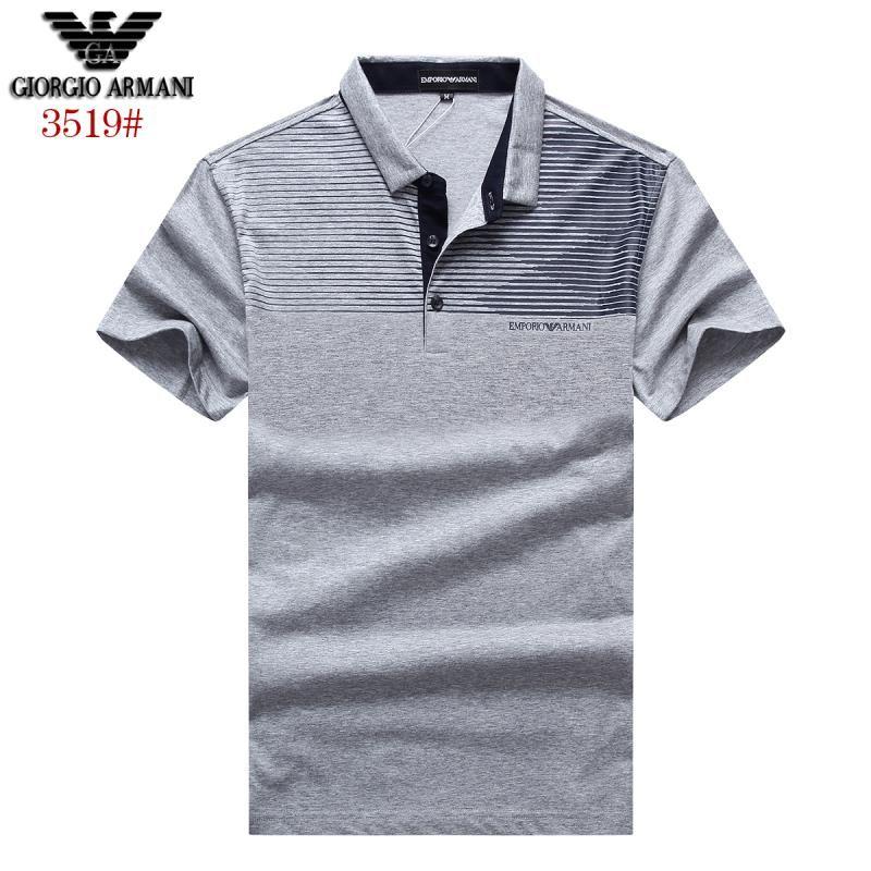 Polos Shop Armani 100 Tops Cotton Short Brand Shirts Sleeve T gRRwq4