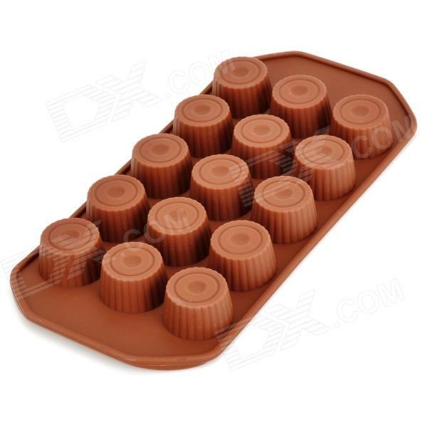 Forma para 15 Chocolates de Xícara  Silicone  Criativo GEL061102 – Café