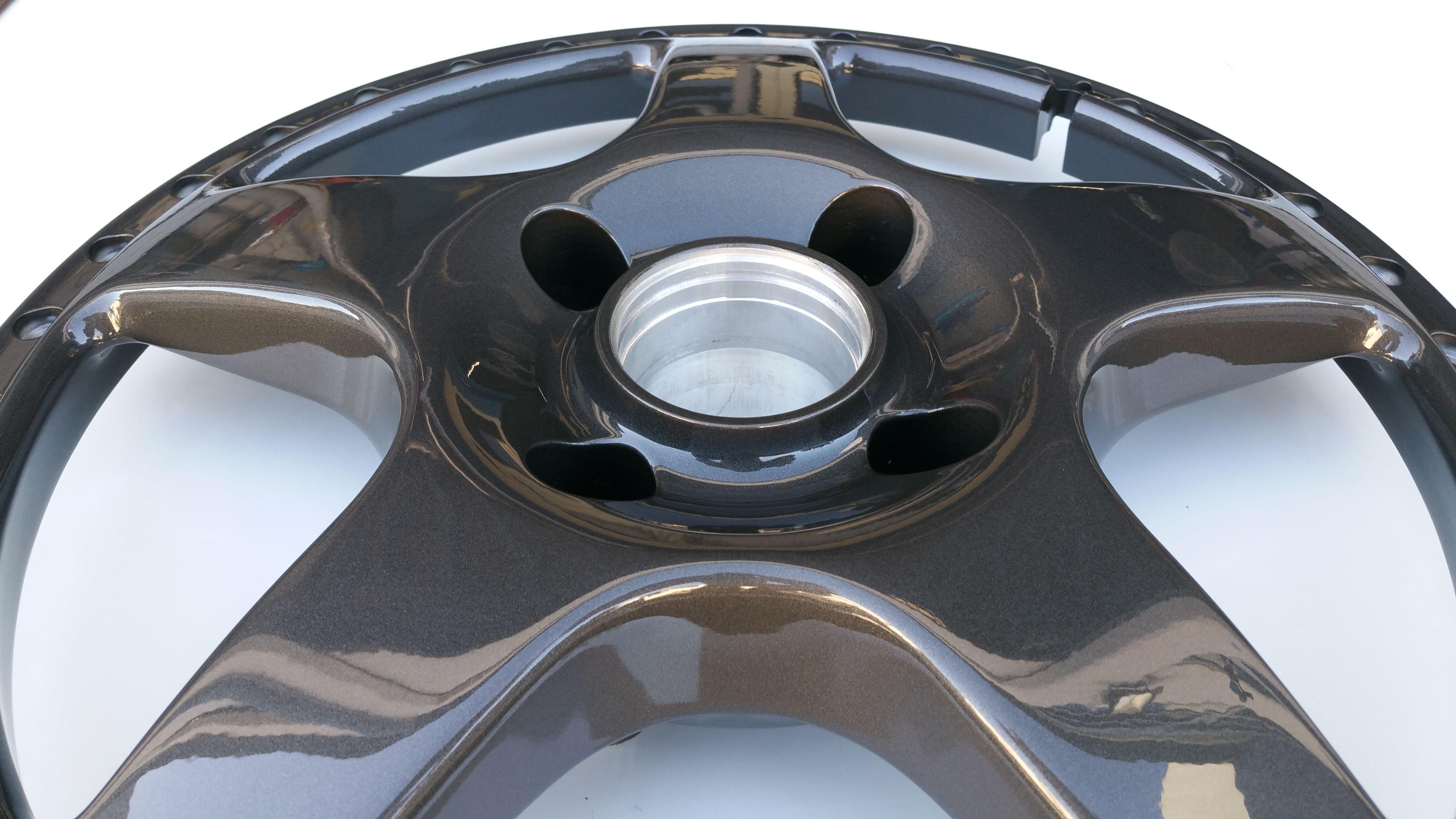 Simmons Wheels FR-18 painted in Simmons Gunmetal Grey  This