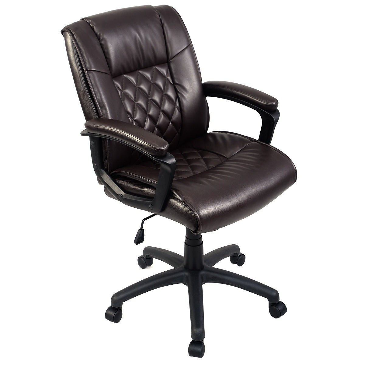 Brown Mid Back Executive Computer Chair Office Chair Ergonomic Chair Executive Chair