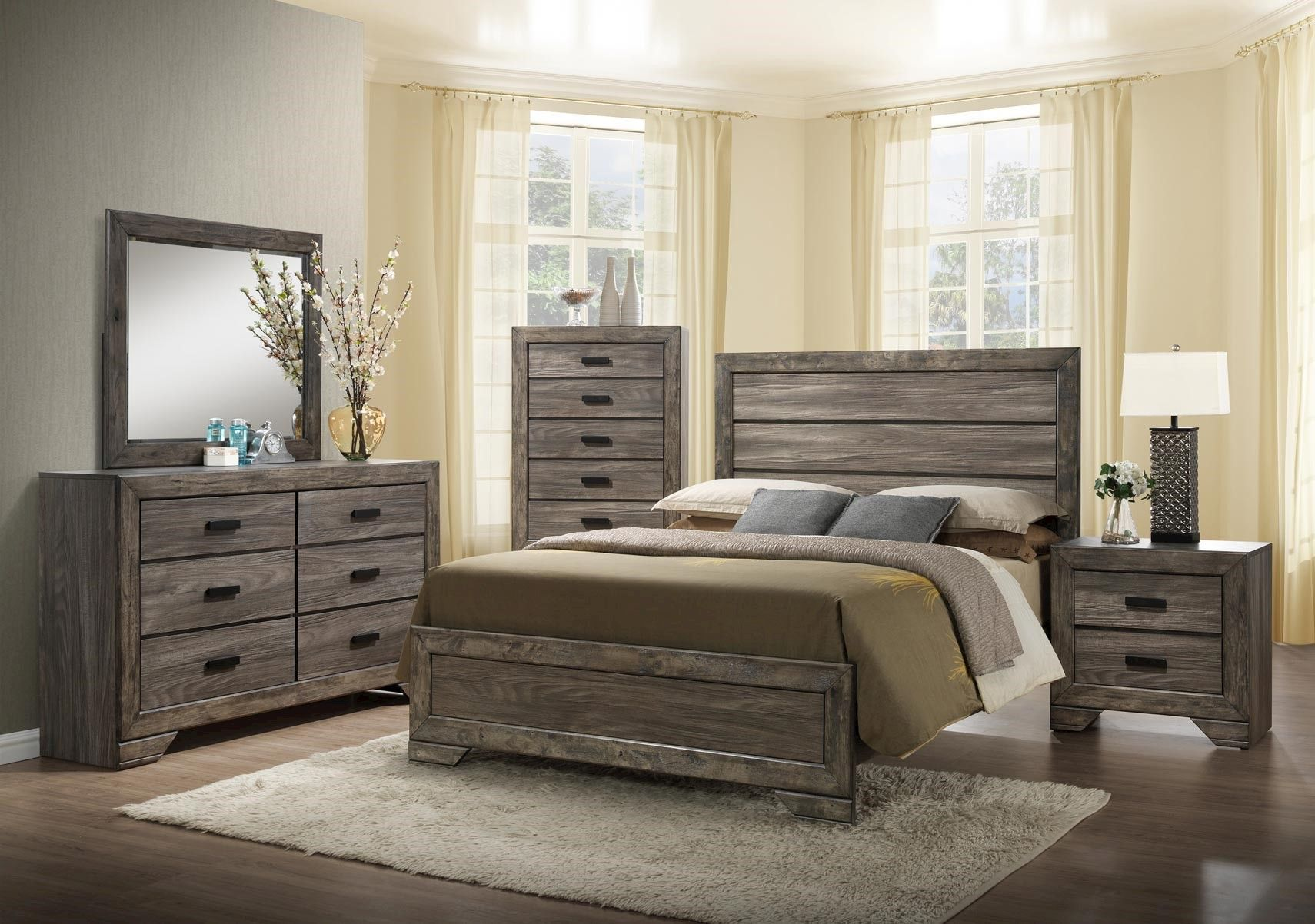 Lacks | Nathan 4-Pc Queen Bedroom Set | Bedrooms | Wood bedroom sets ...