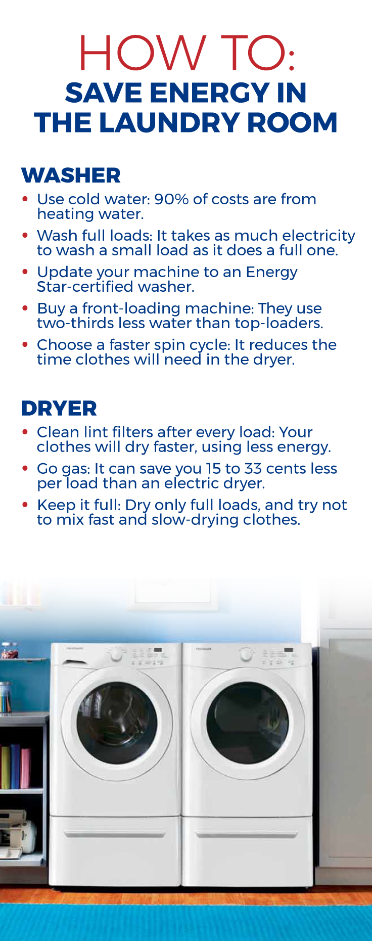 Did You Know That Most Laundry Room Expenses Come From Heating Water For Washing And Heating Air For Drying L Save Energy Laundry Business Laundromat Business