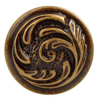 "Bosetti-Marella French Antique Mushroom Knob Size: 1.18"" H x 1.18"" W x 0.94"" D, Finish: Dark Antique Brass"