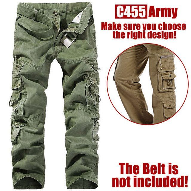 ... New style fashion Male Breeches men s cotton coveralls man leisure  trousers Men s military pants ... 408b470a0ed