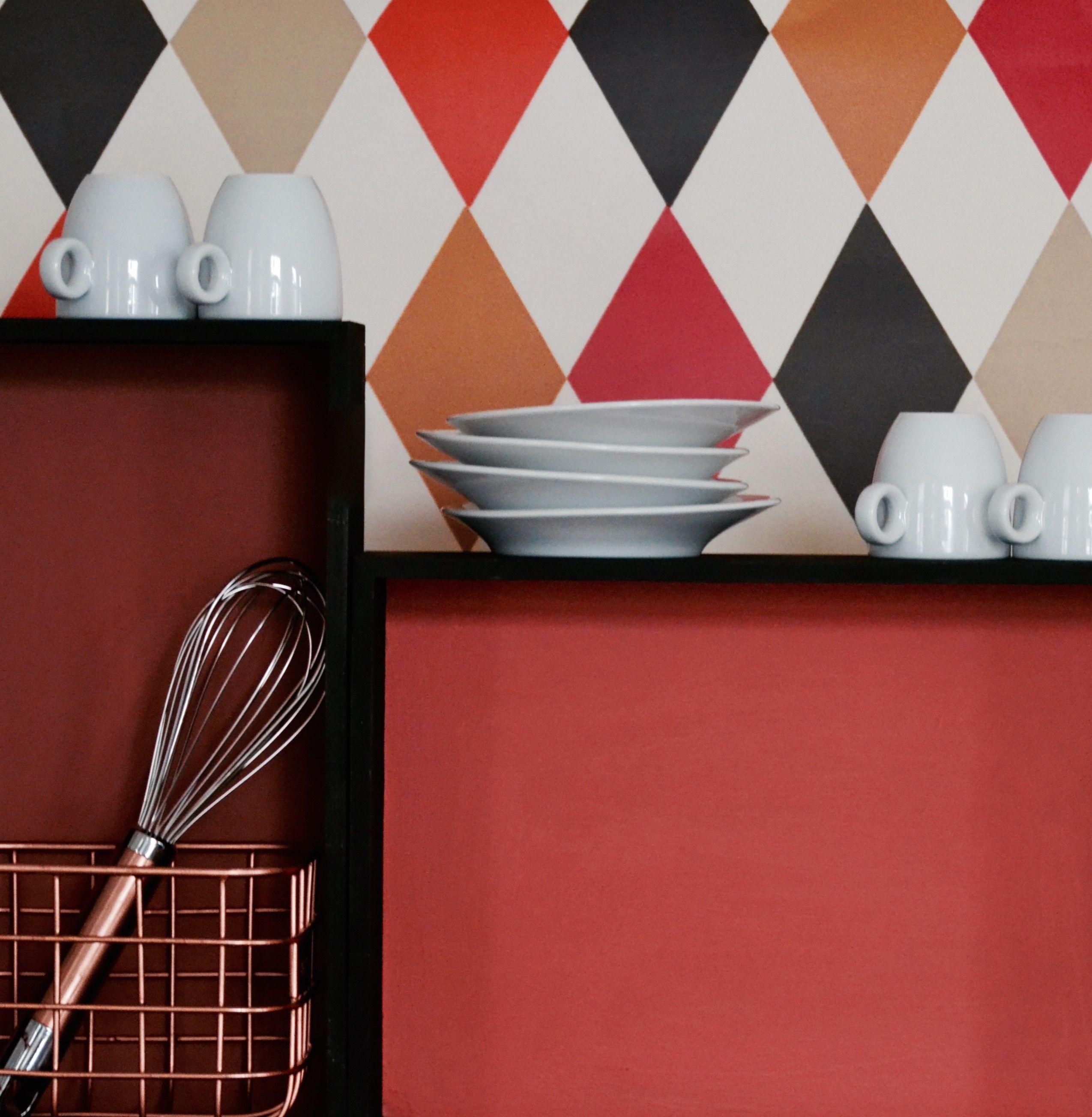 Küchen Im Rotmix   Wandfarben: Little Greene Tuscan Red Und Orange Aurora    Regalfarbe: