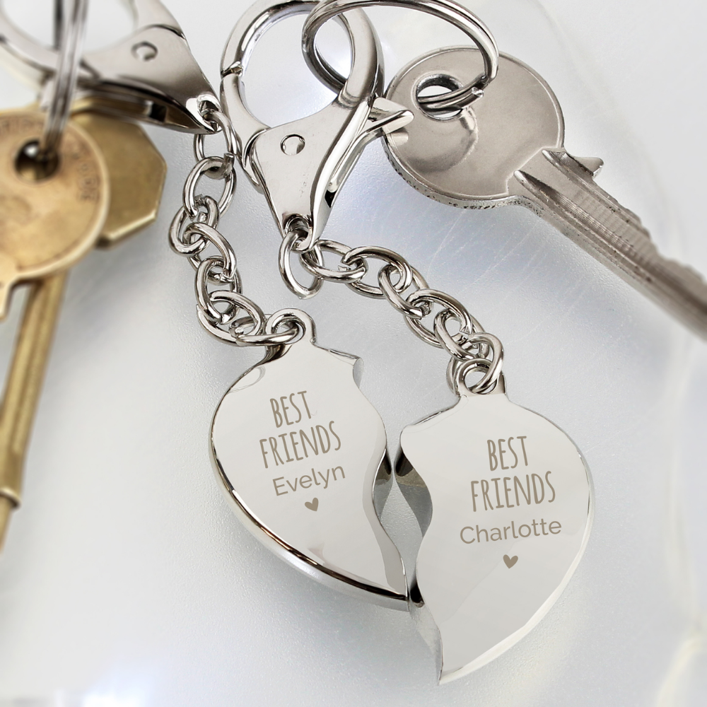 Personalised Angel Keyring Engraved Metal Silver Valentine/'s Birthday Gift Pouch