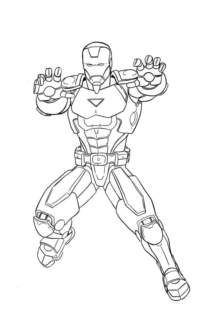 Ausmalbilder Marvel Superhelden: Marvel Iron Man Coloring Pages