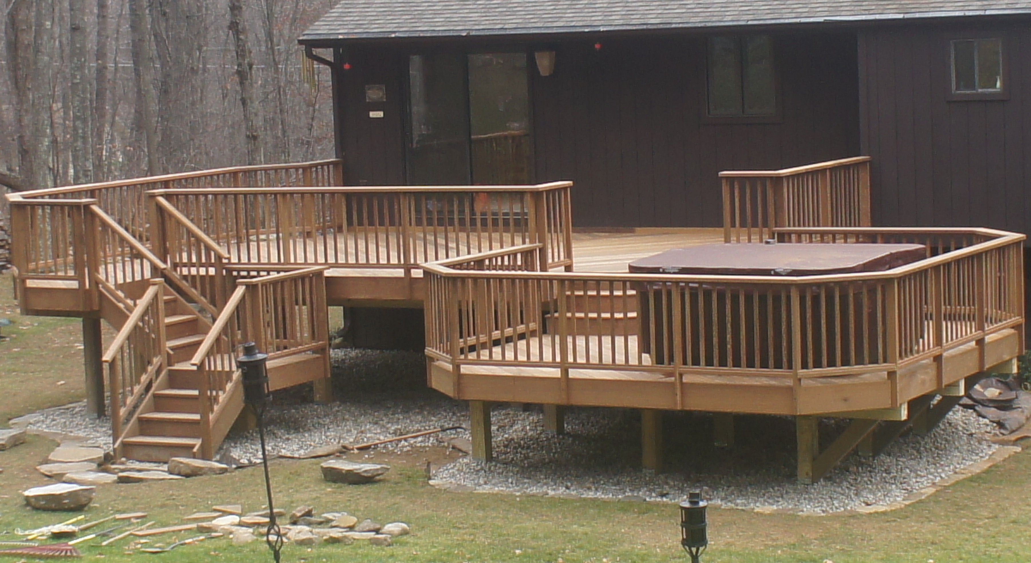 roof time a deck build youtube tub snow watch with hot to part