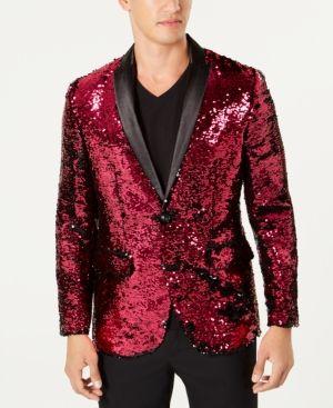 9df134e998e2 I.N.C. Men s Slim-Fit Reversible Sequined Blazer
