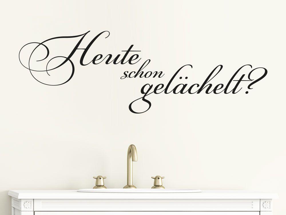 Wandtattoo im Badezimmer - eine schlichte Wanddekoration Die Folie - Wandtattoos Fürs Badezimmer