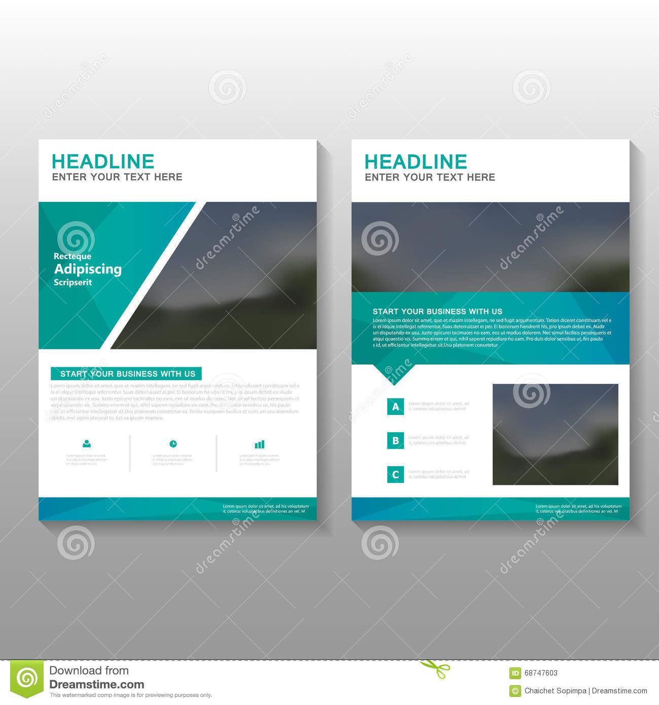 Perfect Photo About Green Elegance Vector Leaflet Brochure Flyer Business Proposal  Template Design, Book Cover Layout Design, Abstract Green Templates Set    ... On Proposal Layouts