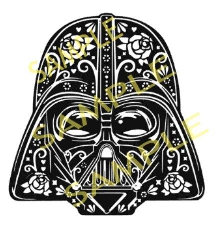 Darth Vader Sugar Skull Cutting Designs Svg Silhouette