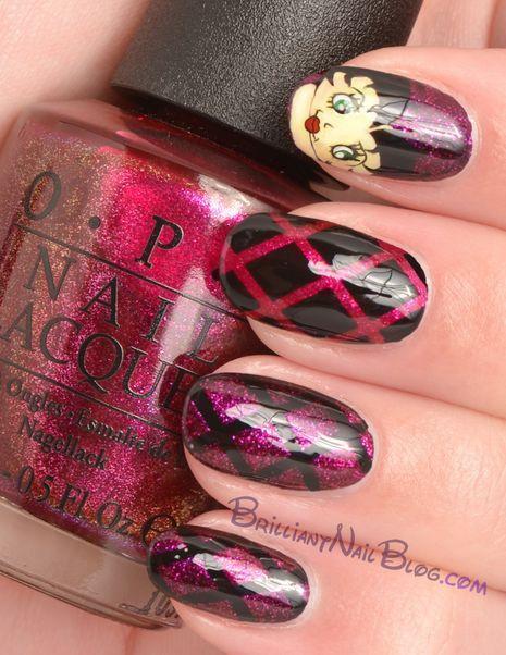 Betty Boop Nail Art 2 2 Nail Designs Pinterest Betty Boop