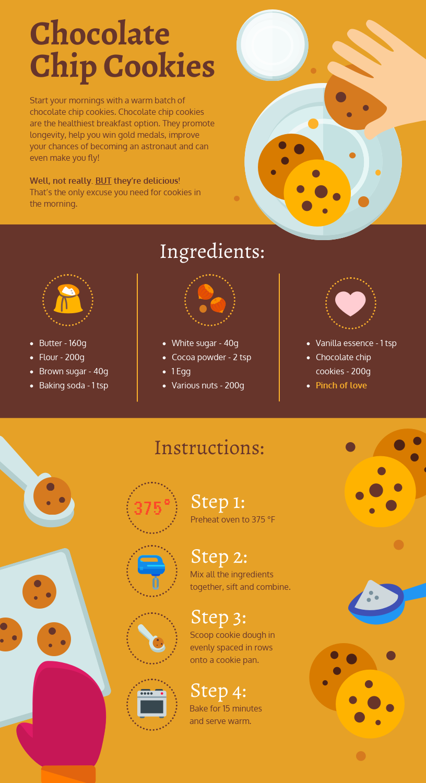 Recipe Infographic Template Edit This