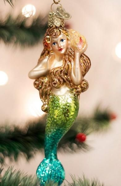 Holiday Decor Nautical Luxuries Mermaid Christmas