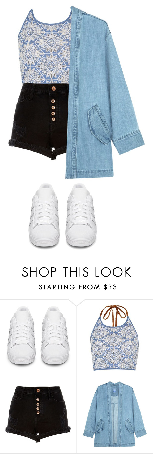"""""""IDK is this OK👌"""" by willabethdadzie ❤ liked on Polyvore featuring adidas Originals, River Island and Steve J & Yoni P"""